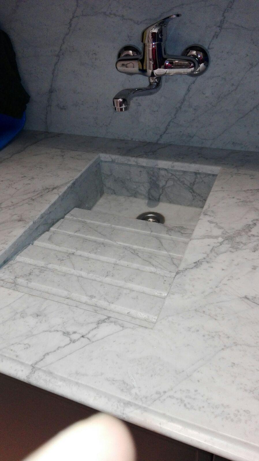 Mármol Blanco Carrara Lavabo